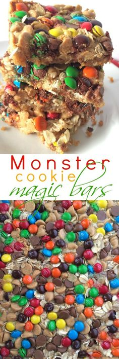 Monster Cookie Magic Bars - Together as Family