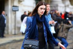 chanel spring 2013 blue jacket - Google Search