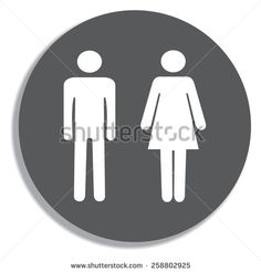 Bathroom Signs Vector Free design inspiration | design & illustrations | pinterest