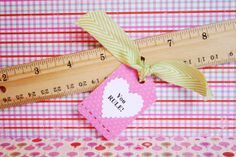 """""""You rule!"""" We love this candy-free idea for Valentine's Day via fiskars.com."""