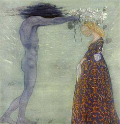 "Melusina Mermaid: ""Scandinavian Ballad Stories: Agnes & the Merman"", Adam Oehlenschläger; ""Agneta & the Sea King"", John Bauer"