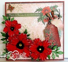 Blazing Poppy Petals Cling Stamp Set - - Cling Stamps - Fashion flaming, life-like poppies in every size and color with this detailed stamp. Designed to pair with the Blazing Poppy Die, this large, detailed Card Making Inspiration, Making Ideas, Flower Cards, Paper Flowers, Poppy Cards, Heartfelt Creations Cards, Greeting Cards Handmade, Cardmaking, Christmas Cards