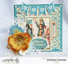 Arlene uses wintry blues to make a gorgeous A Christmas Carol card - absolutely love! #graphic45