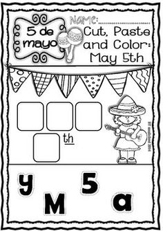 Cinco de Mayo - Ready to print Readings, crafts and Worksheets (1st-5th)