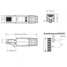 750-976 WAGO PROFINET-Stecker RJ-45 ETHERNET