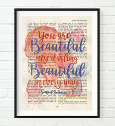 Vintage Bible page verse scripture You are by InkBlotzArt on Etsy