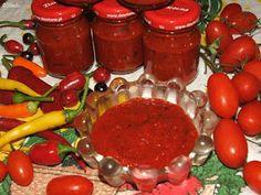 Katalin konyhája: Gulyáskrém Pepper Paste, Goulash, Ketchup, Salsa, Pizza, Stuffed Peppers, Canning, Vegetables, Food