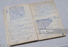 An excavation notebook appears in a gallery of artifacts discovered by American adventurer Wendell Phillips in southern Arabia, now Yemen, during an exhibition of his discoveries at the Smithsonian... Pictures | Getty Images