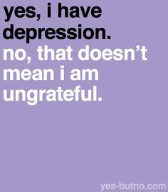 Depression and gratitude