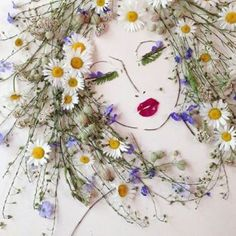 nature art I Balance Twigs And Flowers To Create Intricate Portraits Out Of Mother Nature Art Et Nature, Nature Crafts, Arte Floral, Pressed Flower Art, Flower Crafts, Dried Flowers, Growing Flowers, Diy Art, Mother Nature