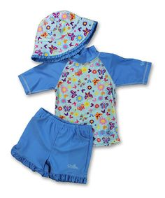 This Blue Butterflower Rashguard Set - Infant & Toddler is perfect! #zulilyfinds