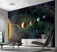 Planets Wall Mural Wallpaper Mural - AllPosters.co.uk