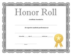 Certificate of honor roll reward your students for their special honor roll certificate template how to craft a professional looking honor roll certificate template yadclub Image collections