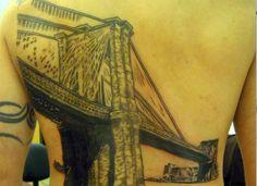 Brooklyn Bridge on back
