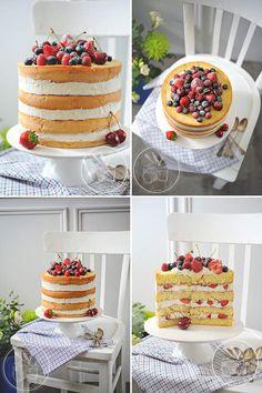 Wedding cake recipes 561120434818316715 - Naked cake aux fruits rouges Source by achiraz Fruit Birthday Cake, Fruit Wedding Cake, Mum Birthday, Cake Aux Fruits, Fresh Fruit Cake, Mini Cakes, Cupcake Cakes, Food Cakes, Fruit Cake Design
