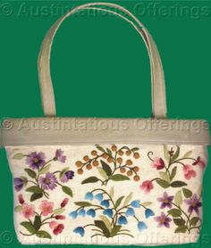 Checkout this amazing product Rare Williams Wilton Leather Trimmed Purse Crewel Embroidery Kit at Shopintoit