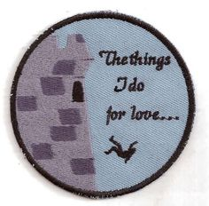 Song of Ice and Fire, Game of Thrones, Bran Falling at Winterfell Patch. $9.00, via Etsy.