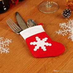 Mini Stocking Silverware Holders | Set the Table And Stuff Your Utensils into Mini Stockings from the Craft Store for a Festive Touch This Christmas Stockings Mini Stocking Christmas Decoration Online with 5.75/Piece on Williamxiang's Store | DHgate.com