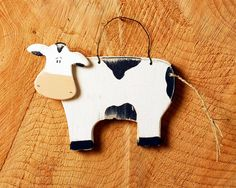 Handmade Wooden Farm Cow by SuzanneLake on Etsy, £10.00