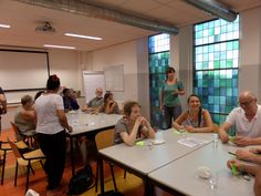 30/8 Brainstorm in MFA De Poorten waar op de 2e verdieping restanten van het kasteel te zien zijn.