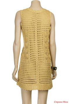 *Платье крючком от Diane Von Furstenberg. Схемы