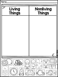 FREEBIE Living and Non-living Things sort! Kinder Science, Science Classroom, Science For Kids, Science Lessons, Science Activities, Ecosystem Activities, Grade 2 Science, Sorting Activities, Life Science