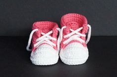 Crochet Baby Shoes,Crochet Baby Booties,Crochet Baby Tennis Shoes,Pink Baby Shoes,Baby Girl Shoes,Baby Girl Booties,Baby Tennis Shoes, Pink by jdurayful on Etsy