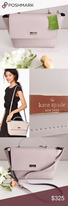 "KATE ♠️ SPADE 💯 authentic purse shoulder handbag NEW KATE SPADE LILAH ARBOUR HILL BAG Classy Kate Spade handbag with detachable strap. Can be worn as a satchel or tote. Color: Mouss-Indi. Measurements: 10"" x 8"" x 4"" Brand new with tag and care instructions. Photos are of actual item. No box, no dustbag. Low ballers will be ignored! kate spade Bags Shoulder Bags"
