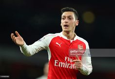 Mesut Ozil of Arsenal in action during the Barclays Premier League match between Arsenal and Swansea City at Emirates Stadium on March 2, 2016 in London, England.