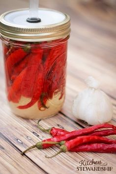 Homemade Fermented Cayenne Pepper Hot Sauce - like Frank's but with healthy probiotics