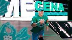 John Cena runs down to the ring for his match on Monday Night Raw!
