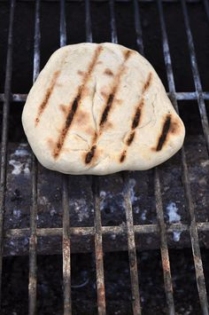 Grilled Rosemary Pita Bread - Make Life Lovely