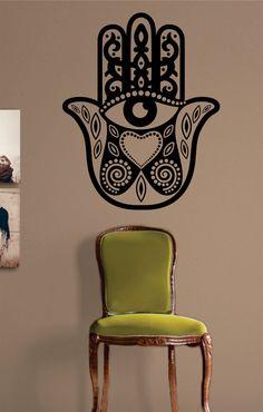 Hamsa Hand Decal Sticker Wall Vinyl Art Blessings Power Strength on Etsy, $24.00