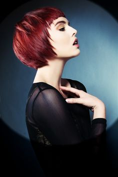 Large image of Short Red straight hairstyles provided by Jamison Shaw. Picture Number 25034