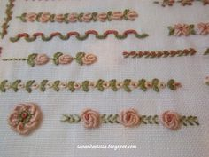 brazilian embroidery how to do Bullion Embroidery, Silk Ribbon Embroidery, Hand Embroidery Patterns, Embroidery Applique, Cross Stitch Embroidery, Embroidery Designs, Smocks, Brazilian Embroidery, Quilt Stitching