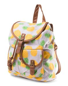 Gina Concepts - pineapple printed backpack, $14.99,  TJMAXX