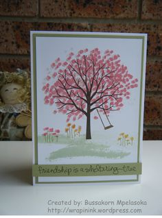 Stampin' Up! Sheltering Tree, greeting card, friendship