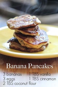 Coconut Flour Banana Pancakes. 5 ingredients of grain-free, dairy-free, real-food deliciousness.