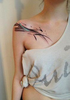 beautiful brush tattoo