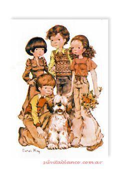 amistad Sarah Key, Vintage Drawing, Holly Hobbie, Precious Children, Kewpie, Funny Cute, Cute Drawings, Cute Kids, Illustrators