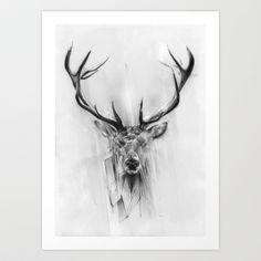 Red Deer Art Print by Alexis Marcou - $16.00