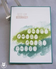 Stampin` Up!, Karte Ostern, Embossing Resist