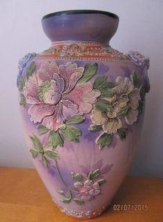 Antique JAPANESE NIPPON MORIAGE Chrysanthemum VASE
