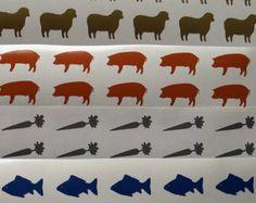 Menu Stickers Meal Choice Sticker Food Table Animal Diy