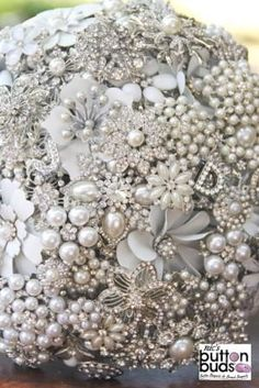 Brooch Bouquet by Nic's Button Buds