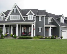 Iron Gray Exterior House Colors Design Ideas, Pictures, Remodel, And Decor