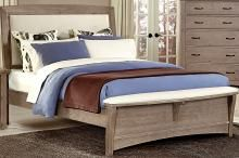 Driftwood Finish Bedroom Furniture - Transitions Upholstered Bed