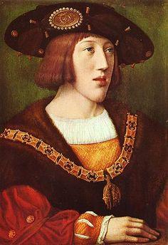 Carlos of Habsbourg,  Bernaerd van Orley. Future Carlos I, King of Spain and Carlos V, Holy Roman Empire.