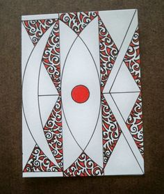 Red Dot Abstract Original ACEO by ellemardesigns on Etsy, $8.00