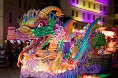 Dragon float during Mardi Gras